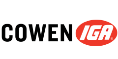 A theme logo of Cowen IGA